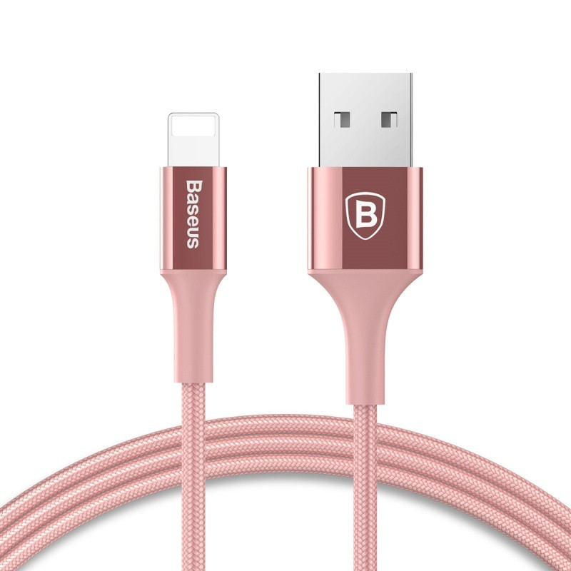 Кабель Baseus Lightning to USB (розовый)
