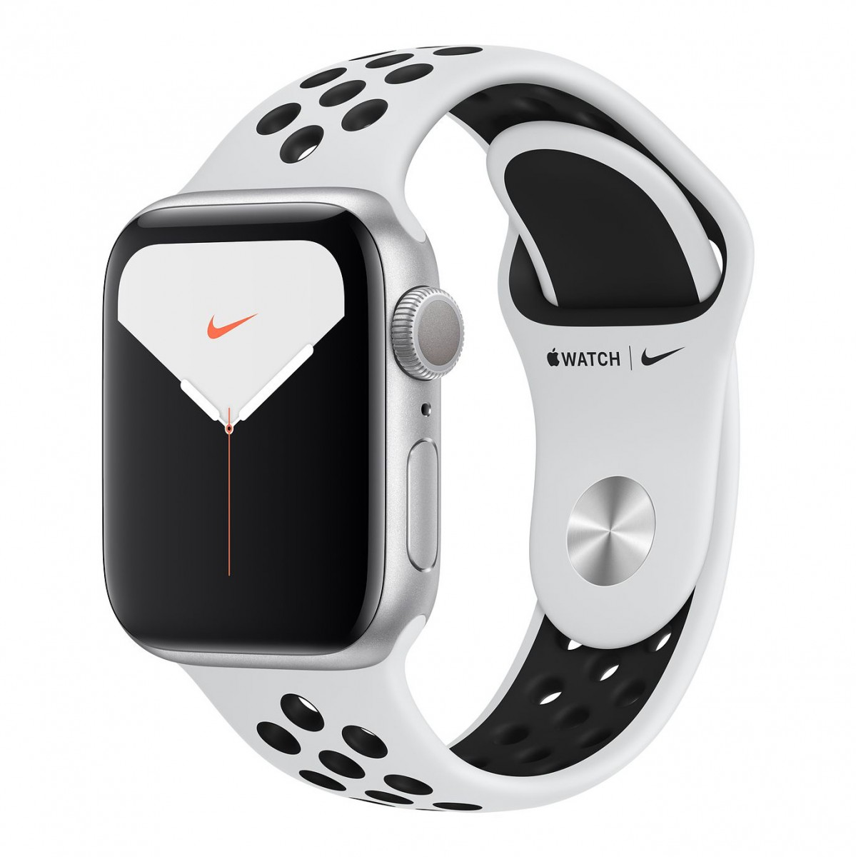 Apple Watch Series 5 Nike 40mm GPS Silver Aluminum Case with Pure Platinum/Black Nike Sport Band