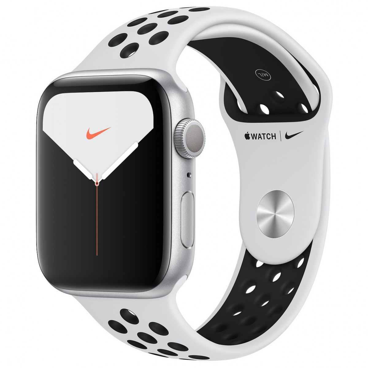 Apple Watch Series 5 Nike 44mm GPS Silver Aluminum Case with Pure Platinum/Black Nike Sport Band
