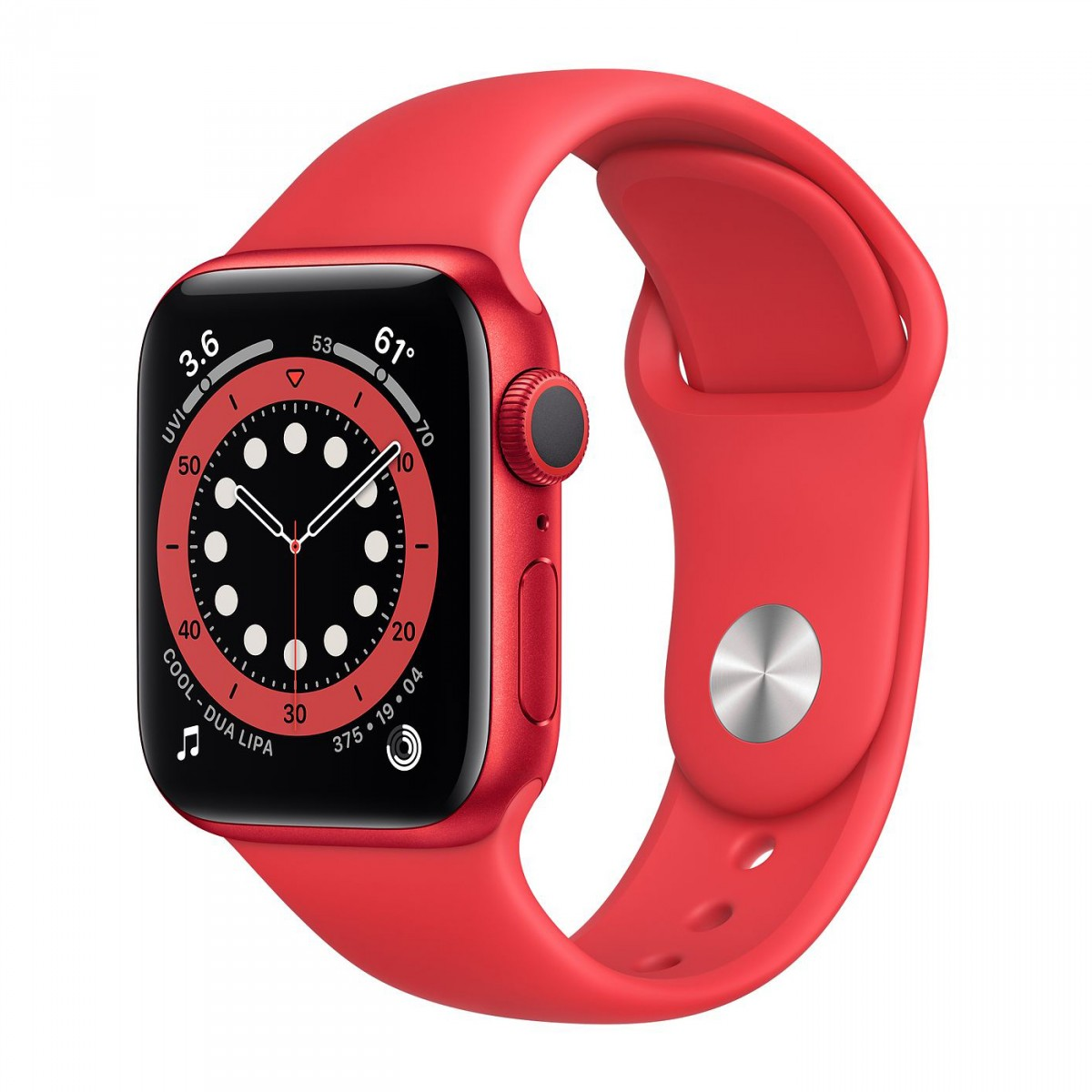 Apple Watch Series 6 40mm GPS Red Aluminium Case with Red Sport Band