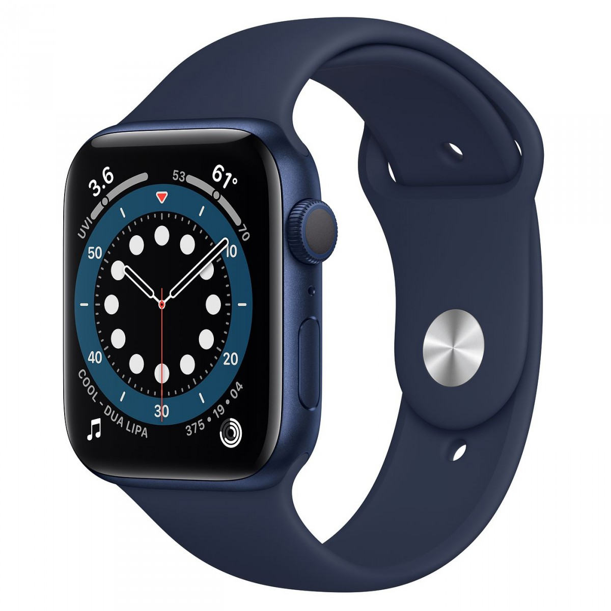 Apple Watch Series 6 44mm GPS Blue Aluminium Case with Deep Navy Sport Band