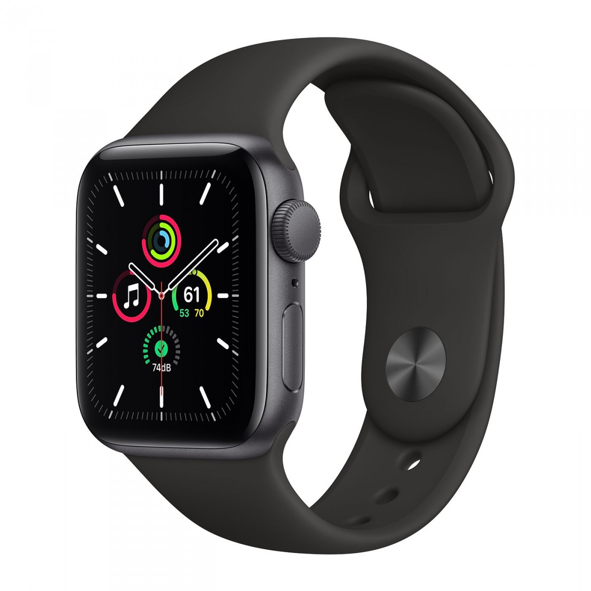 Apple Watch SE 40mm GPS Space Gray Aluminum Case with Black Sport Band
