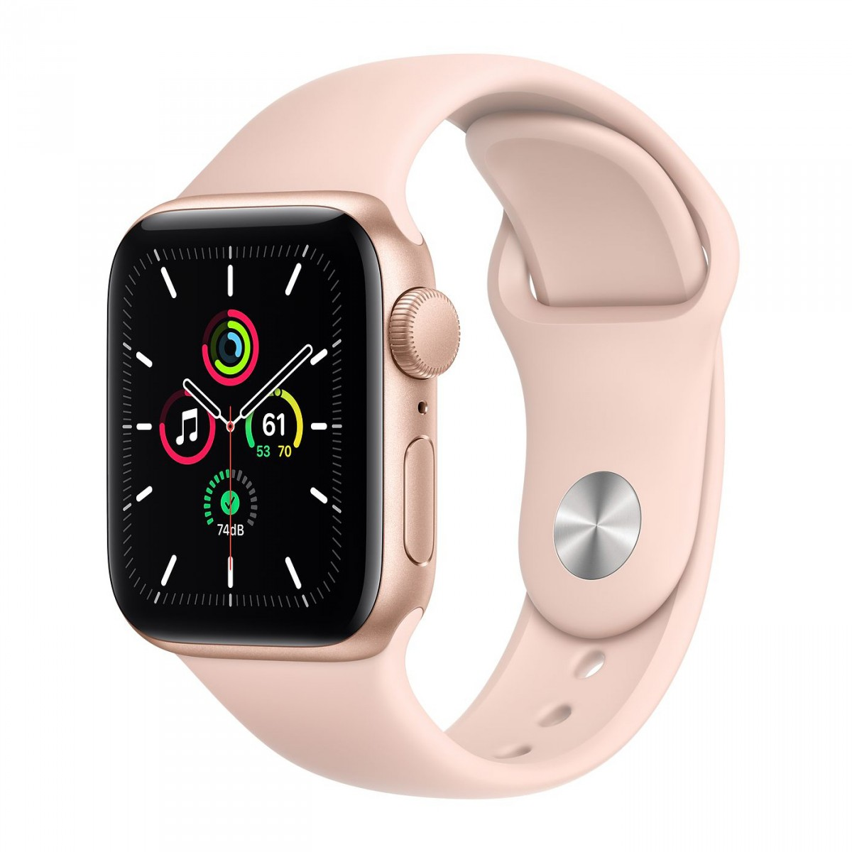 Apple Watch SE 40mm GPS Gold Aluminum Case with Pink Sand Sport Band