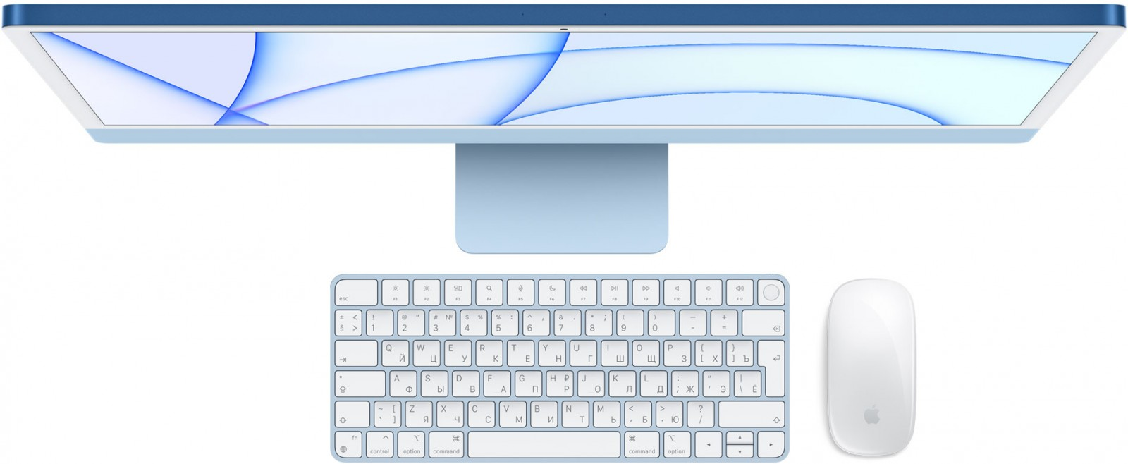 Apple iMac 24 2021 Magic Keyboard, mouse, trackpad color